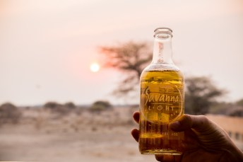 Watching the sun set over the savannah of Onguma Game Reserve outside of Etosha National Park