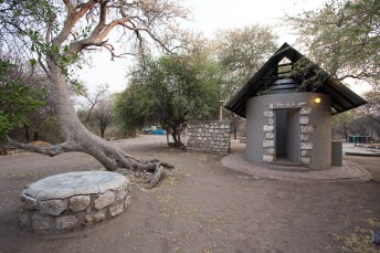 Leadwood Campsite at Onguma Game Reserve Safari Namibia