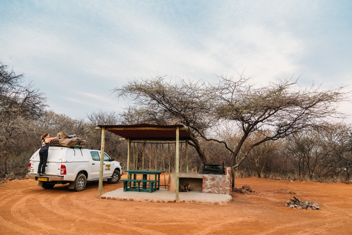 book campsites in namibia through NWR
