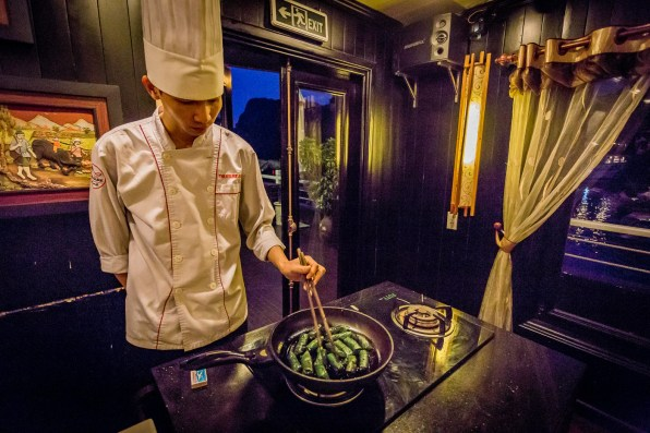 A cooking class aboard the Treasure Junk of Halong Bay