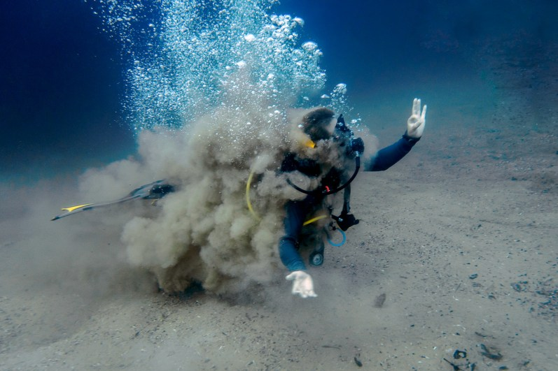 Mud fun at Barracuda Lake Coron Philippines scuba diving