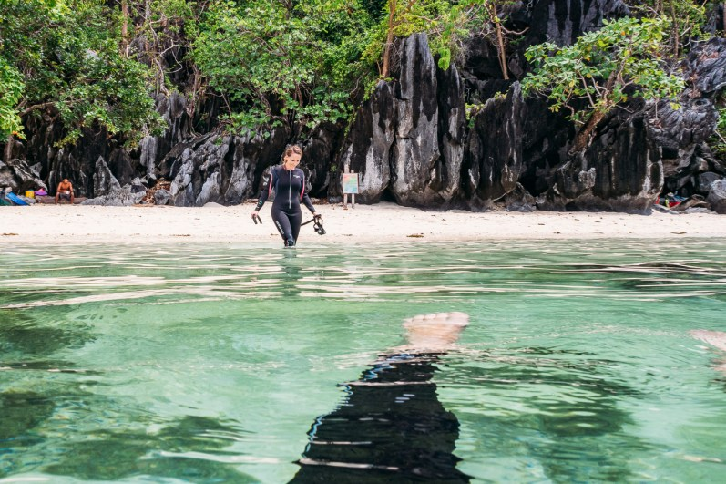 Learning to freedive with Palawan Divers El Nido static apnea