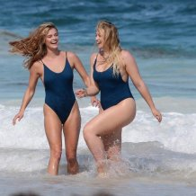 Iskra Lawrence and Nina Agdal Wear This Flattering, $35 Swimsuit Better Than Any Baywatch Babe