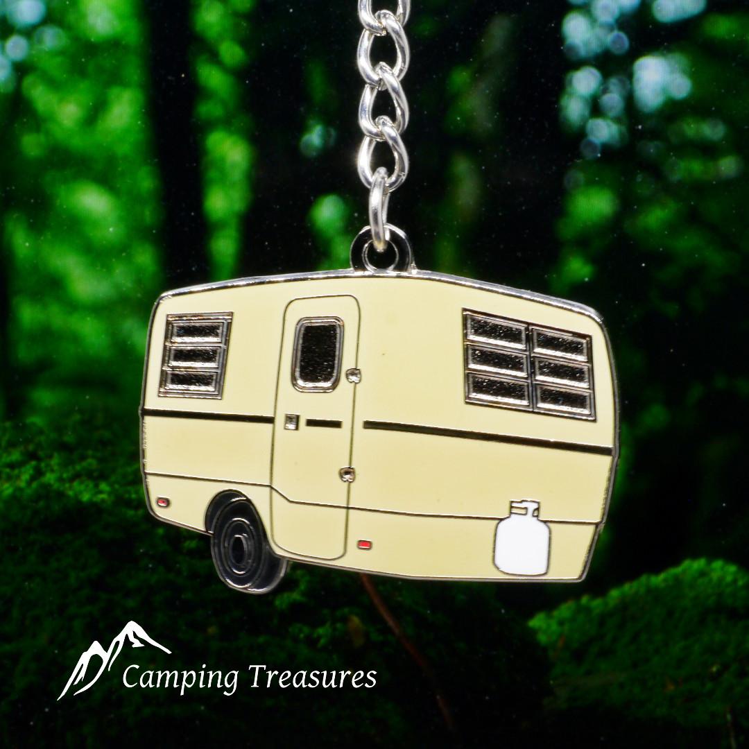 Beige Trillium Trailer Key Chain, Keychain