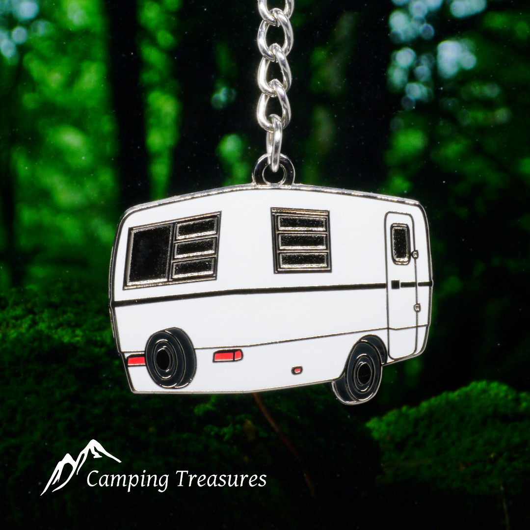 White Trillium Trailer Key Chain, Keychain