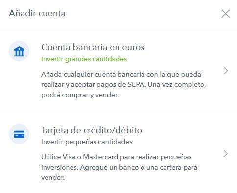Cómo añadir cuenta bancaria en coinbase