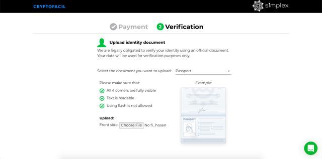 verificar identidad en simplex compra bitcoins con tarjeta de credito en cryptofacil