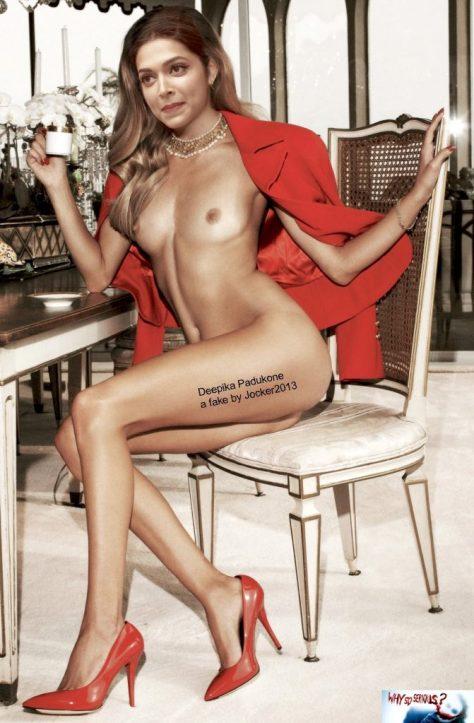 Full nude Indian actress Deepika Padukone naked body photo