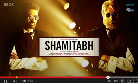 Amitabh Bachchan, Dhanush, Shamitabh, audio trailer, Youtube