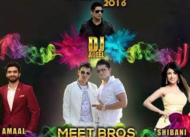 Holi Celebration, Meet Bros, Amaal Malik, Rahul Raj Singh, Shibani Kashyap, DJ Aqeel