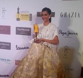 Sonam Kapoor, Grazia Young Fashion Awards