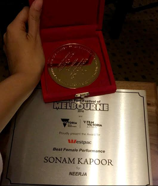 Sonam Kapoor, Best Actress, Indian Film Festival, Melbourne