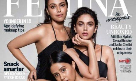 Swara Bhaskar, Aditi Rao Hydari, Sasha Chettri, Femina Cover