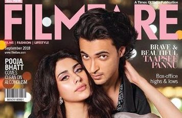 Aayush Sharma, Warina Hussain, first magazine cover