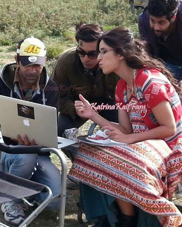 Check out Ranbir Kapoor and Katrina Kaif engrossed in work on the sets of Jagga Jasoos