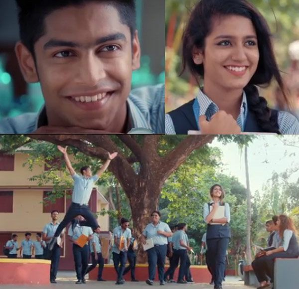 Priya Varrier and Roshan Abdul Rahoof in Oru Adaar Love Tamil song teaser is what teenage love is all about – watch video