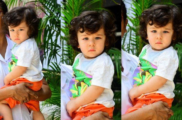 [View HQ pics] Taimur Ali Khan has eyes only for the media