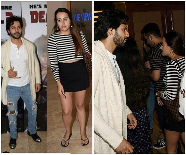 Varun Dhawan attends the Deadpool 2 screening with girlfriend Natasha Dalal