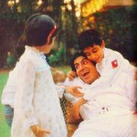 Amitabh Bachchan, Shweta Bachchan Nanda and Abhishek Bachchan