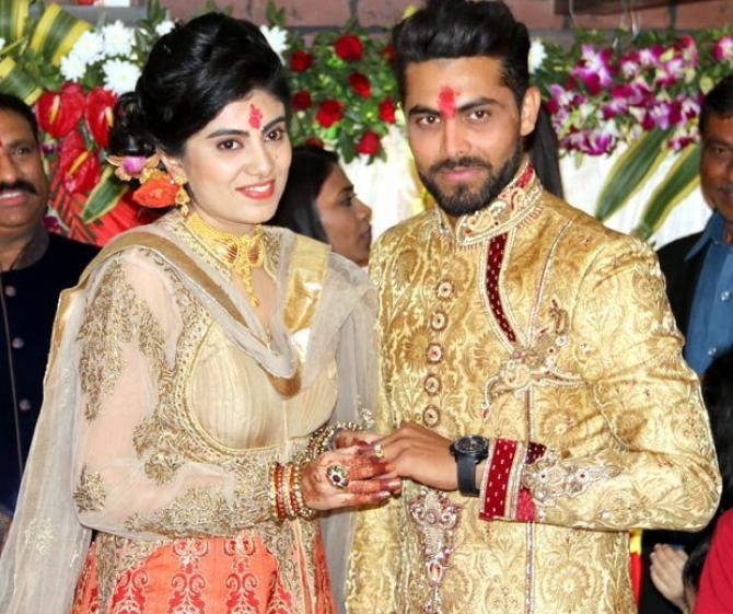 Cricketer Ravindra Jadeja And His Fiance Rivaba Solankis