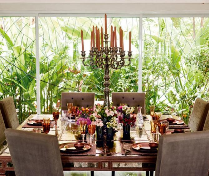 Dining Space: A Perfect Space for Family Dinner Celebrity Homes