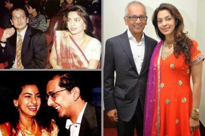 Juhi Chawla with husband