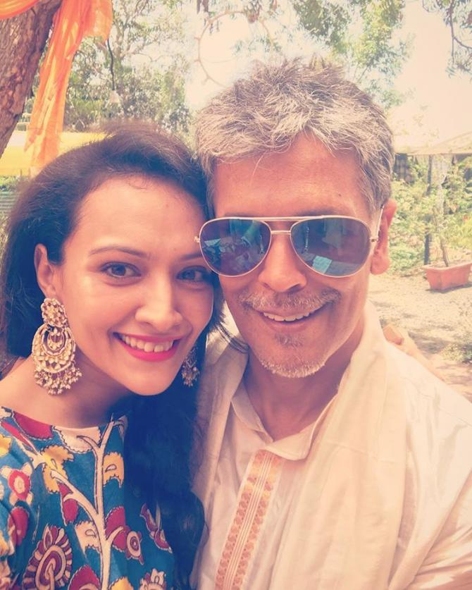 Dipannita Sharma and Milind Soman