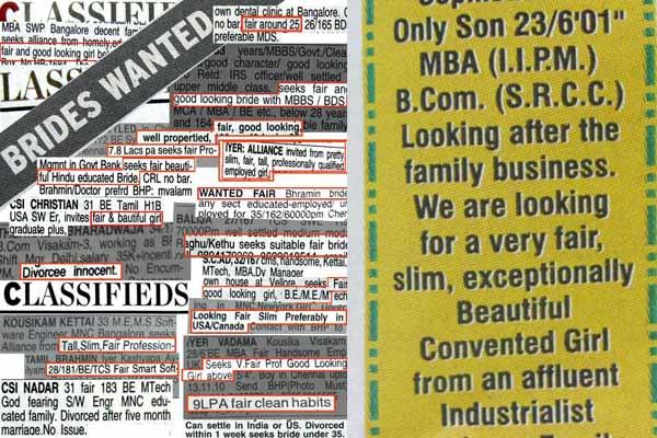 Resultado de imagem para looking for bride ads india