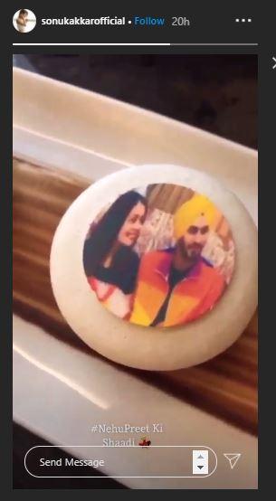 Neha Kakkar Wedding Dessert