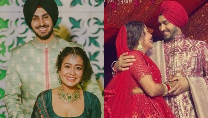 Neha Kakkar Ties The Knot With Rohanpreet Singh Again, Radiates Bridal Glow In A Unique Red Lehenga