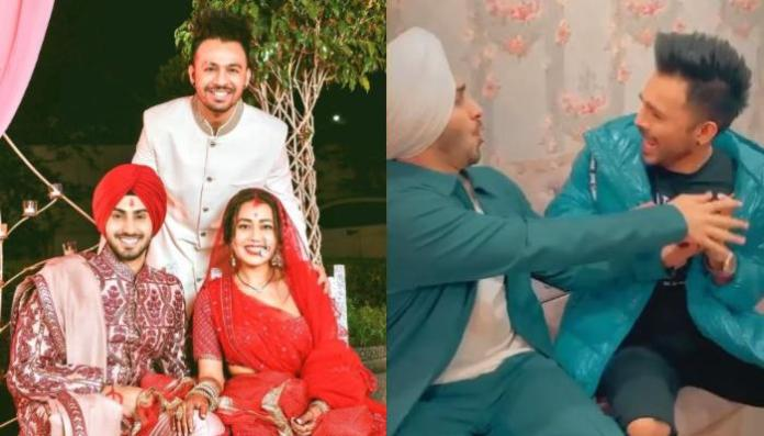 Neha Kakkar's Husband, Rohanpreet Singh And Her Brother, Tony Kakkar Fights Over Her In A Cute Video
