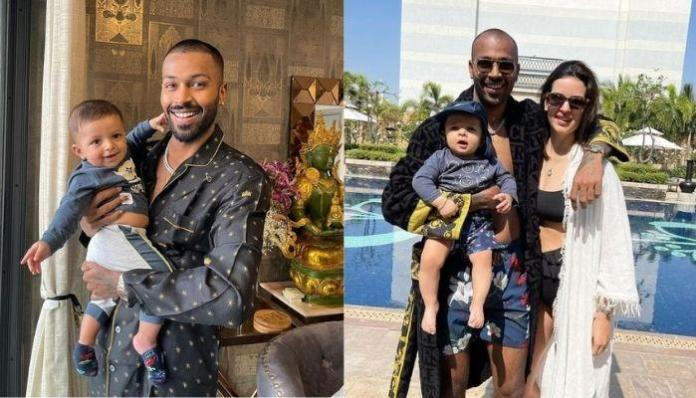 Hardik Pandya Takes A Dip In The Pool With Daddy's Boy, Agastya, Flaunts His Tattoos