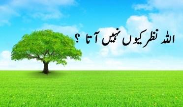 اللہ نظر کیوں نہیں آتا ؟