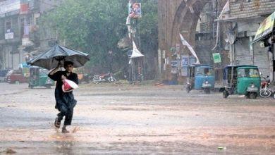مون سون بارشوں کاسلسلہ 15 اگست تک جاری رہے گا:محکمہ موسمیات