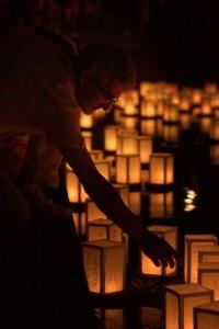 Un momento della Cerimonia delle lanterne