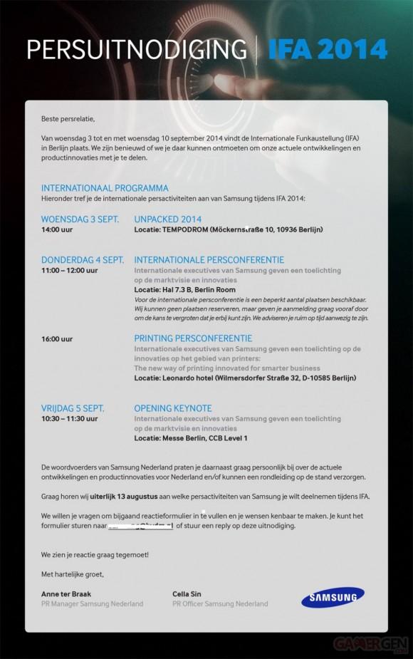 Conférence Samsung IFA 2014