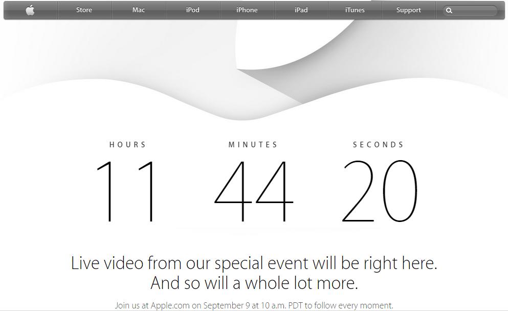 Apple affiche un compteur sur sa page d'accueil