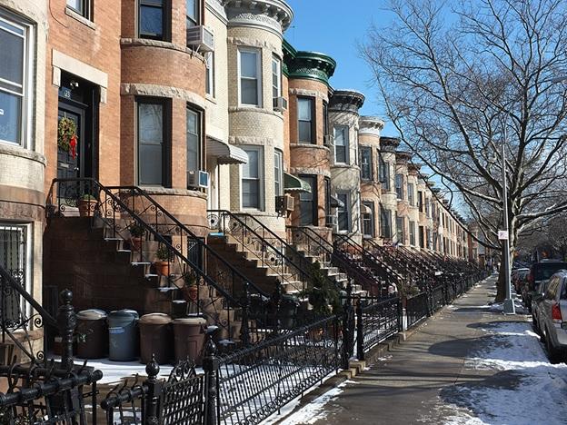 Foto de um bairro no Brooklyn