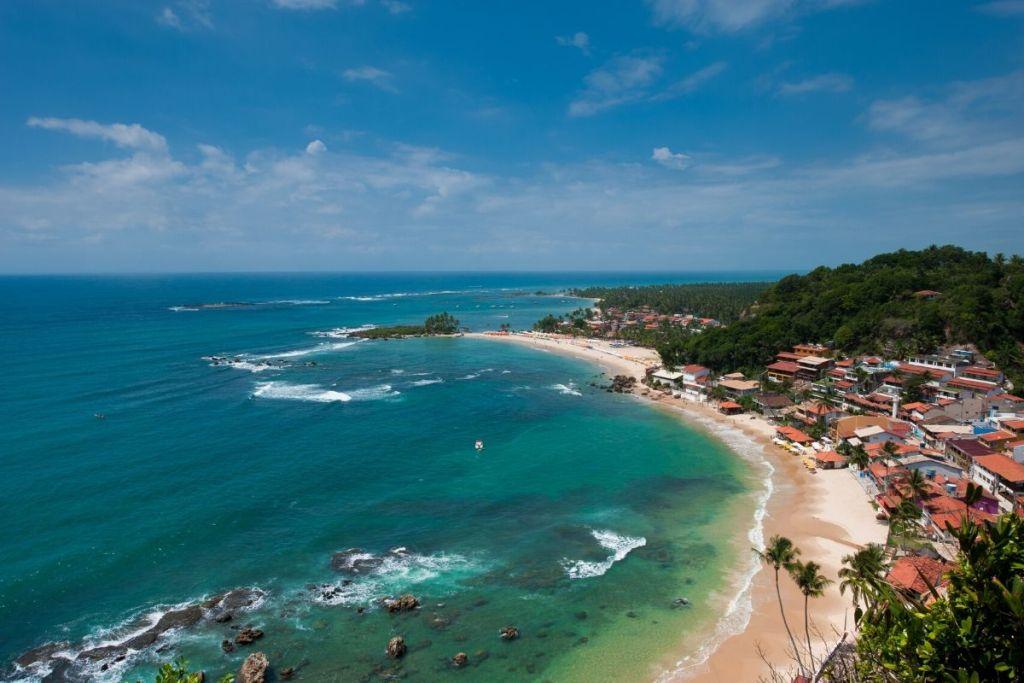 Vista da primeira, segunda e terceira praia do farol. Morro de São Paulo. Brasil. - Imagem