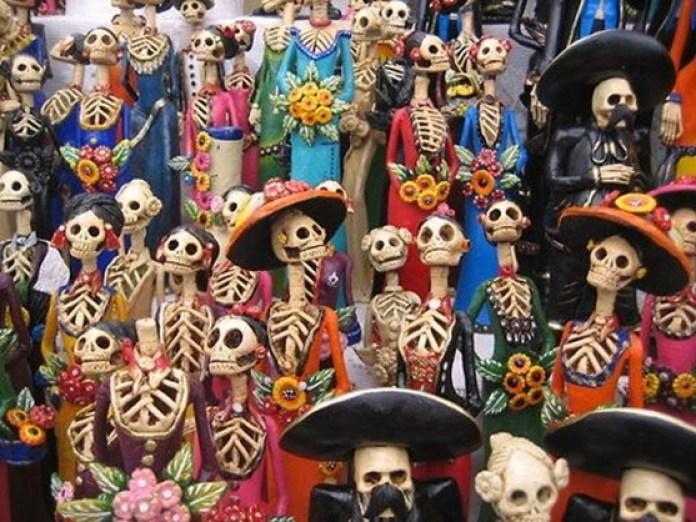 Celebração dos mortos - Caveiras Mexicanas em Cancun