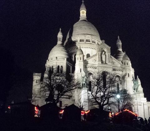 Foto da Sacre Coeur em Paris
