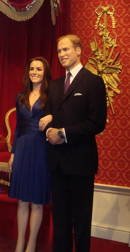 Príncipe William e Kate Middleton no Madame Tussauds