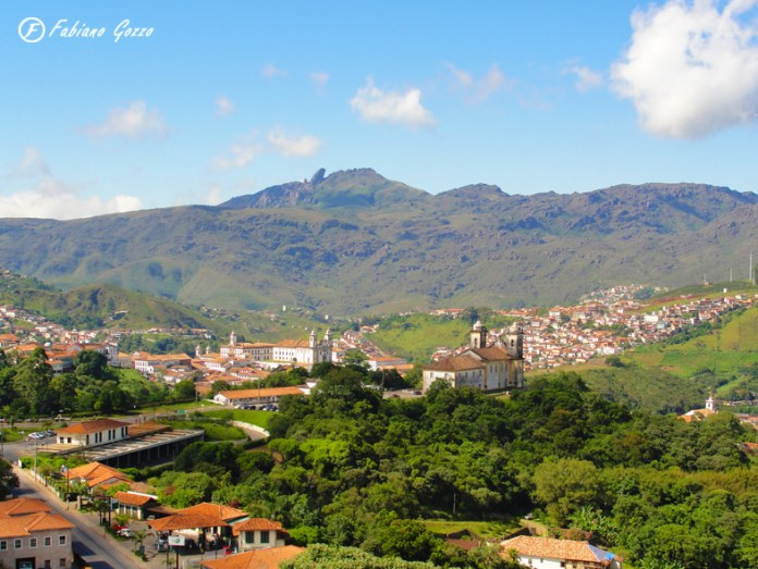 Vista panorâmica de Ouro Preto feita do mirante do Parque dos Contos