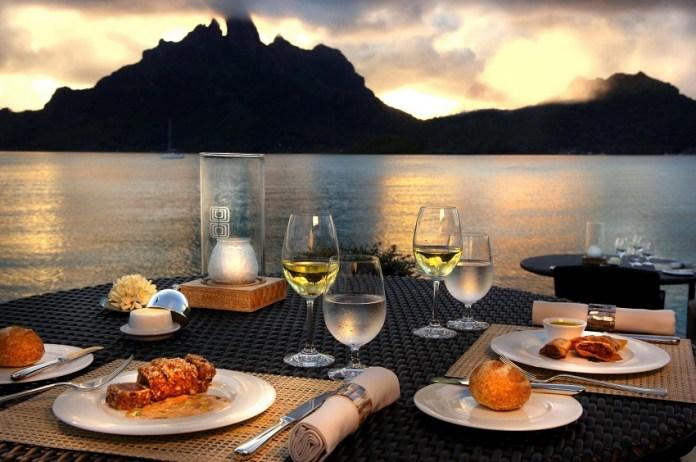 Jantar em Bora Bora