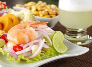 Foto da gastronomia do Peru