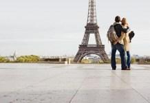 Foto da lua de mel em Paris