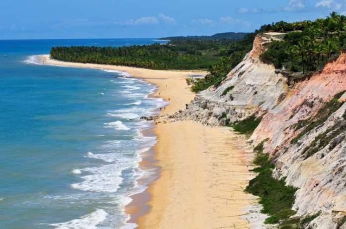 Praia de Itaquena em Trancoso é uma das praias mais bonitas da Bahia