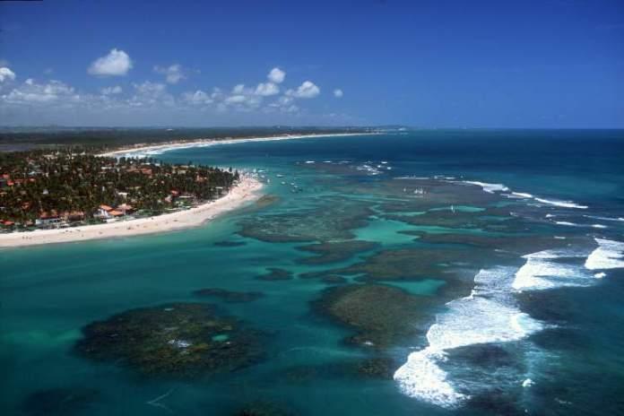 Praia de Serrambi em Porto de Galinhas, Ipojuca, Pernambuco