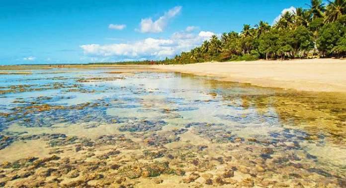 Quarta Praia no Morro de São Paulo na Bahia é uma das praias mais bonitas do Brasil