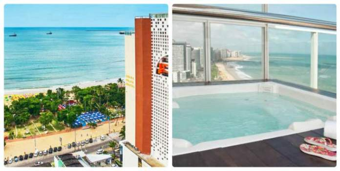 Seara Praia Hotel – Fortaleza, CE tem banheira de hidromassagem